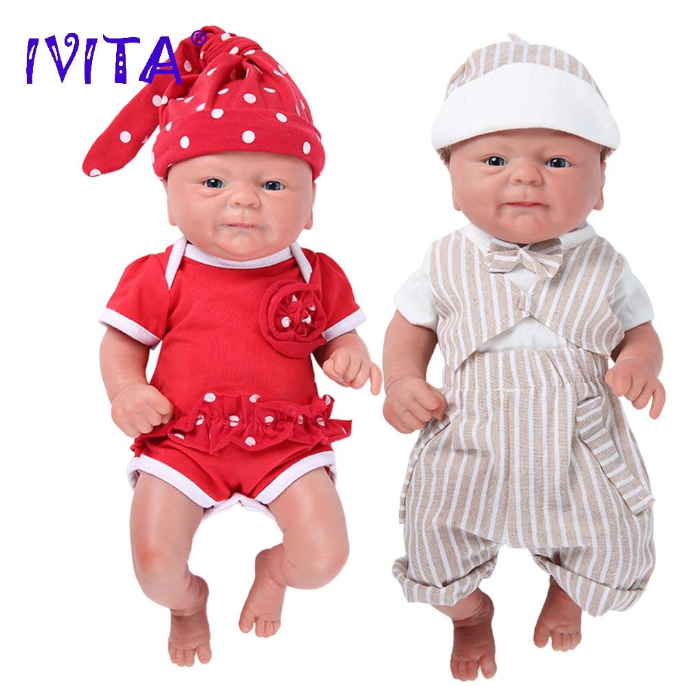 IVITA WG1512 36cm 1,65 kg 100% Volle Silikon Reborn Puppe 3 Farben Augen Entscheidungen Realistische Baby Spielzeug für Kinder weihnachten Geschenk
