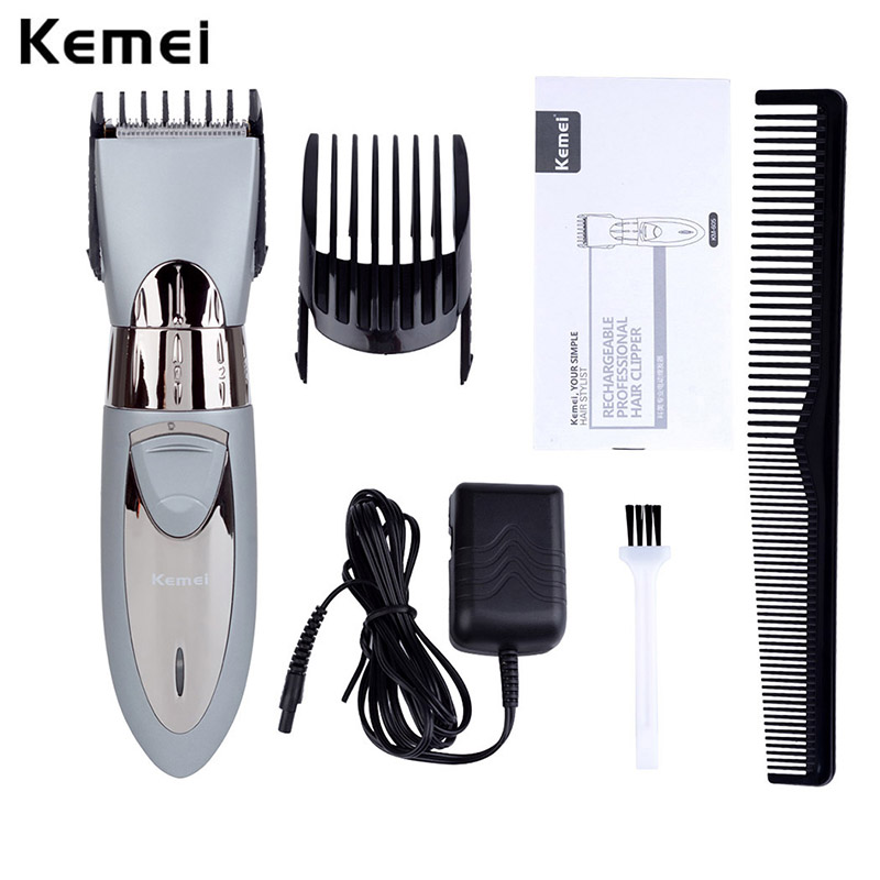 Kemei Rechargeable Hair Trimmer Waterproof Wireless Electric Shaver Beard Nose Ear Shaver Hair Clipper Trimmer Tool 5