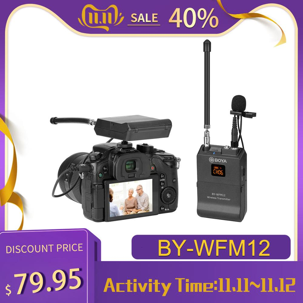 BOYA BY-WFM12 Wireless Microphone VHFMic System for iPhone Sony Canon DSLR Camcorder Audio Recorder PK WM4 BY-WM4