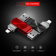 EAGET I66 OTG Мобильный телефон компьютер двойного назначения u-диск флеш-накопитель USB 3,0 карта памяти высокоскоростной флэш-диск для iPhone