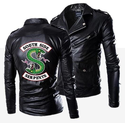 Jacket Snakes Synthetic-Leather New Autumn Fashion Polyurethane Suede Fitness Riverdale