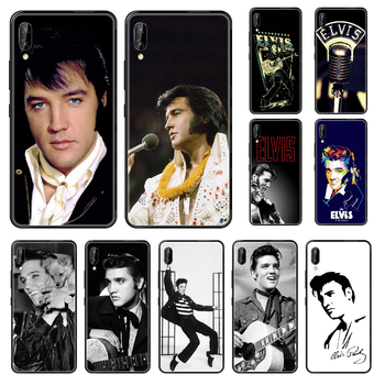 Singer Elvis Presley Phone case For Huawei Honor Mate 5 7 8 9 10 20 i A X Lite Pro black 3D cell cover silicone funda soft image