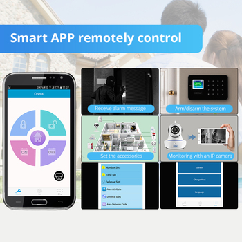 KERUI G18 GSM Alarm Systems For Home Security Systems APP Wireless  Burglar Alarm Fire Protection Motion Sensor Security Alarm 4