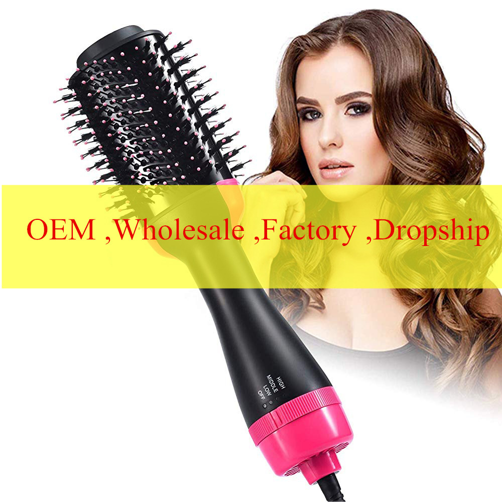 One-Step Hair Dryer & Volumizer 2 in 1 Roller Electric Hot Air Curling Iron comb Electric Blow Dryer Hot Air Brush