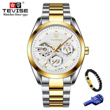 TEVISE Mens Wristwatch Stainless Steel Business Automatic Se