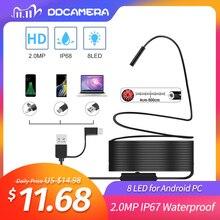 2.0MP półsztywna kamera endoskopowa USB IP67 wodoodporna kamera kanalizacyjna z 8 diodami LED dla systemu Android, MacBook i Windows PC (3CM 5M)