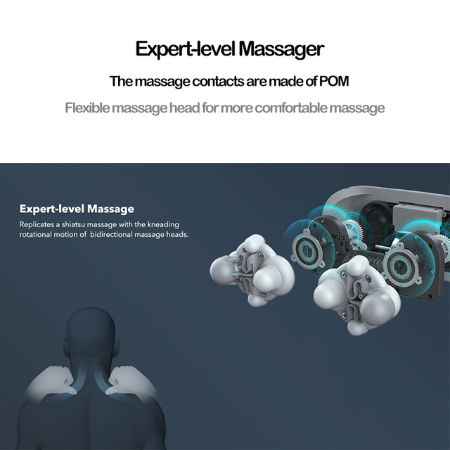 Electric Neck Roller Massager for Back Pain Shiatsu Infrared lamp Massage Pillow  Gua Sha Products Body Health Care Relaxation 2