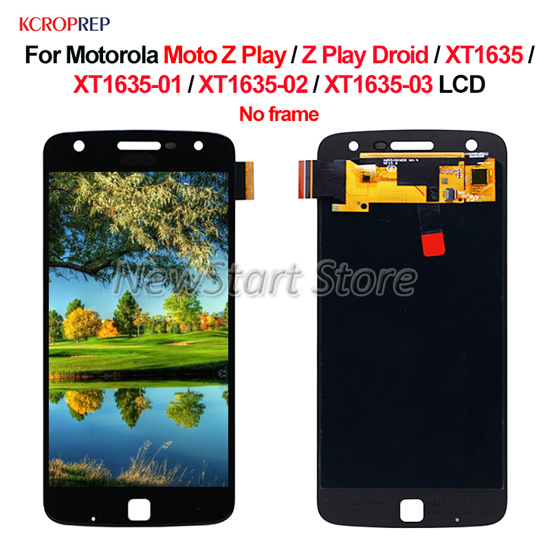 For Motorola Moto Z Play LCD Display Touch Screen Digitizer Assembly For Moto Z Play Z Play Droid <font><b>XT1635</b></font> <font><b>XT1635</b></font>-01/02/03 lcd image