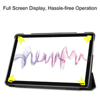 leather flip Case For Huawei Mediapad M6 10.8 2019 PU Leather Flip Stand Cover Shell Shockproof Tablet Case Flip Stand Protective Cover KS047 (4)