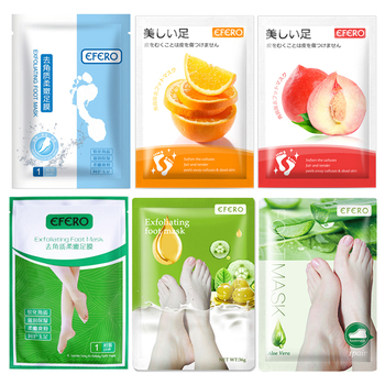 EFERO 6packs Exfoliating Foot Mask for Legs Peeling Cuticle Dead Skin Feet Mask Moisturizing Socks for Pedicure Socks Foot Care недорого
