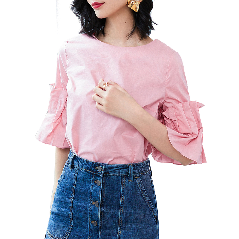7 Minutes Of Sleeve Fashion Splicing 7 Minutes Of Sleeve Round Collar