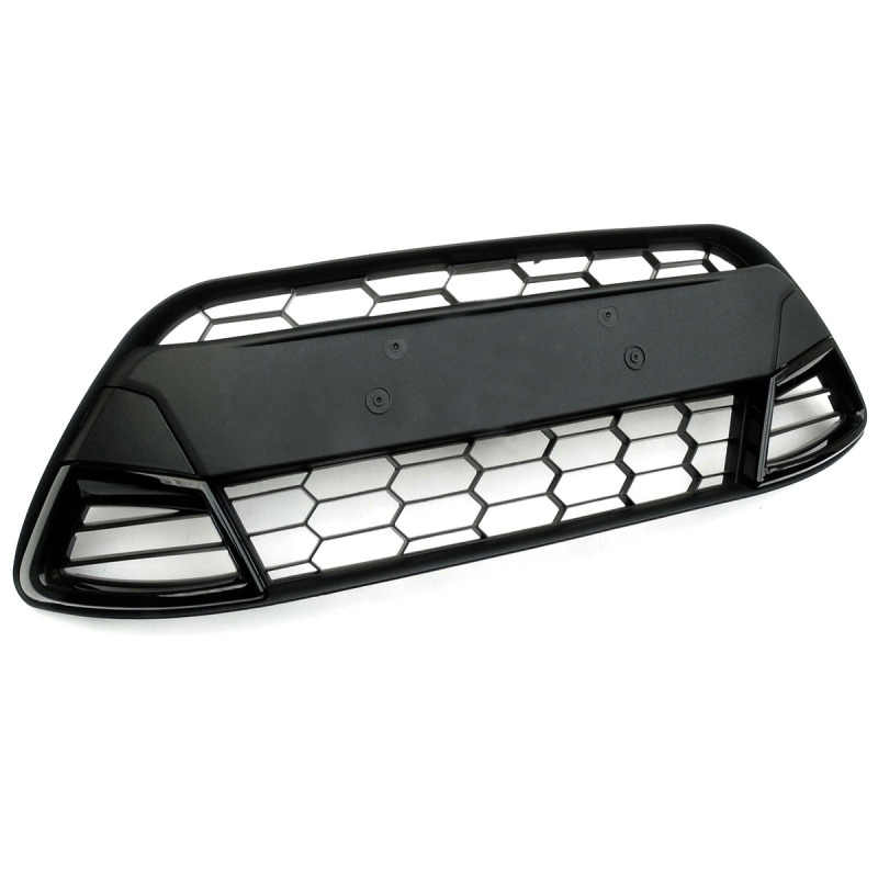 1 Pcs Front Center Racing Grill Grille For Ford/Fiesta MK7 2008 2009 2010 2011 Car Styling Panel Trim Bumper Car Accessories