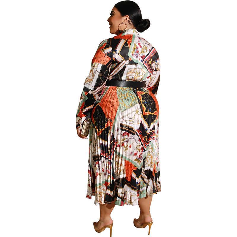 שמלות אפריקאיות נשים קיץ בתוספת גודל נשים בגדים ארוך שרוול צווארון V אלגנטי סקסי Boho מקסי שמלת Vestidos Robe Femme