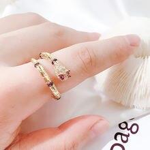 Новые кольца в форме змеи с узором для женщин изменяемым цирконием
