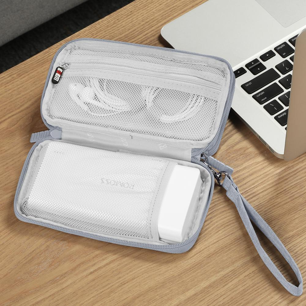 BUBM HDD Case Protect Bag Box USB Cable Charger Pouch Power Bank Storage Case for 20000mAh Romoss Charger