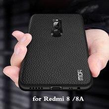 for Redmi 8 Case Mi Redmi 8A Cover for Xiaomi Redmi8 Back Housing Coque Xiomi 8 A TPU PU Leather Soft Silicone MOFi Original