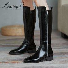 Ботинки krazing pot из спилка с квадратным носком на среднем