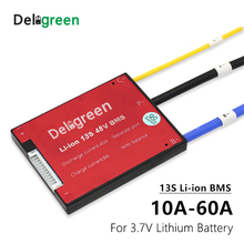 3.7V 13S BMS 15A 20A 30A 40A 50A60A PCM/PCB/BMS for 48V 18650 LiNCM Li ion lithium battery pack for electric bicycle and scooter