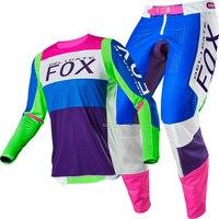 Free shipping 2020 NAUGHTY FOX MX/ATV Racing 360 Linc Jersey Pant Adult Combo Dirt Bike Motocros Racing Combo MX Off Road ATV DH