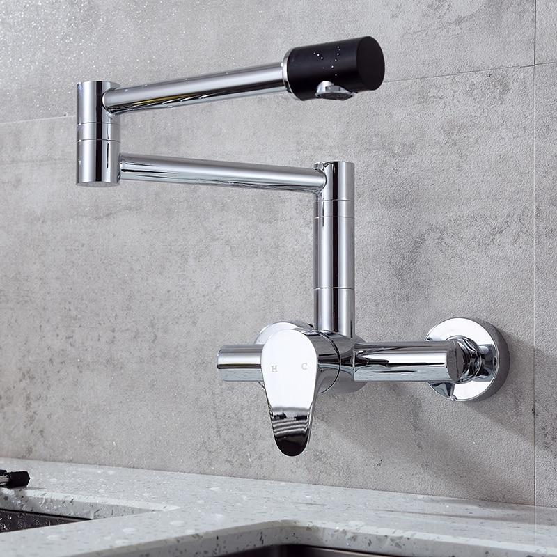 Robinets de cuisine pliants finition SHAI montage mural mitigeur chromé robinets de Bar salle de bains évier robinet robinets de cuisine évier