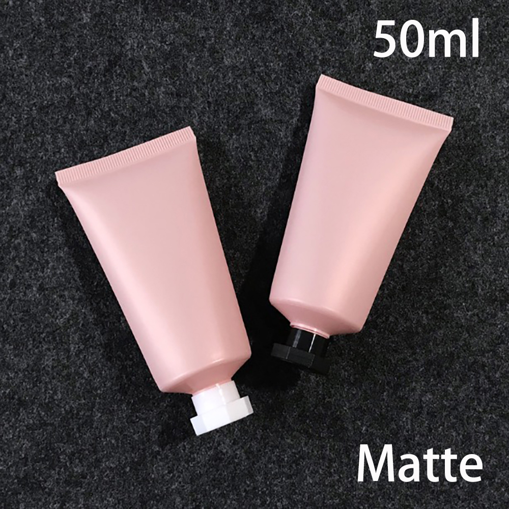 Free Shipping 50ml Matte Pink Plastic Cream Bottle 50g Empty Cosmetic Squeeze Soft Tube Frost Facial Lotion Package 30pcs