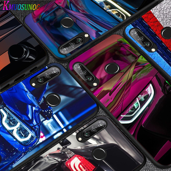 Silicone Black Cover Blue Red Car for Bmw for Huawei P40 P30 P20 Pro P10 P9 P8 Lite E Plus 2019 2017 Phone Case Coque image