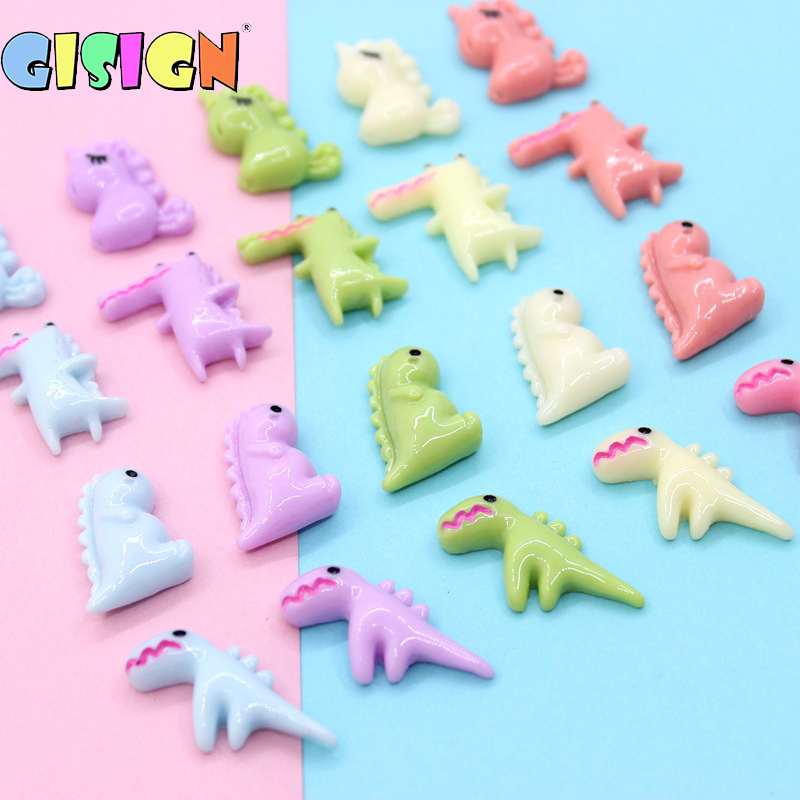 10PCS Cartoon Crocodile Slime Supplies Accessories Decoration Charms Addition For Slime Filler DIY Phone Case Kids Toys