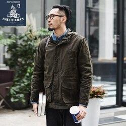 Мужская куртка с воском sauzezhan, Длинная ветровка с воском, зимняя куртка