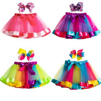Lato jednorożec Tutu spódnica dziewczynka spódnice 12M 8T księżniczka Mini Pettiskirt Party Rainbow tiulowe spódnice dziewczyny dzieci odzież tanie i dobre opinie WFRV Na co dzień CN (pochodzenie) Pasuje prawda na wymiar weź swój normalny rozmiar COTTON Poliester Wiskoza GEOMETRIC