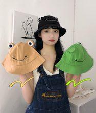 2021 Frog Bucket Hat for Women Summer Autumn Plain Female Panama Outdoor Hiking Beach Fishing Cap Sunscreen Woman Sunhat Bob