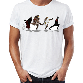 Summer Men's T-shirt The Holy Grail Comedy Funny Artsy Awesome Artwork Printed Tshirt Cool Tees Tops Harajuku Streetwear image