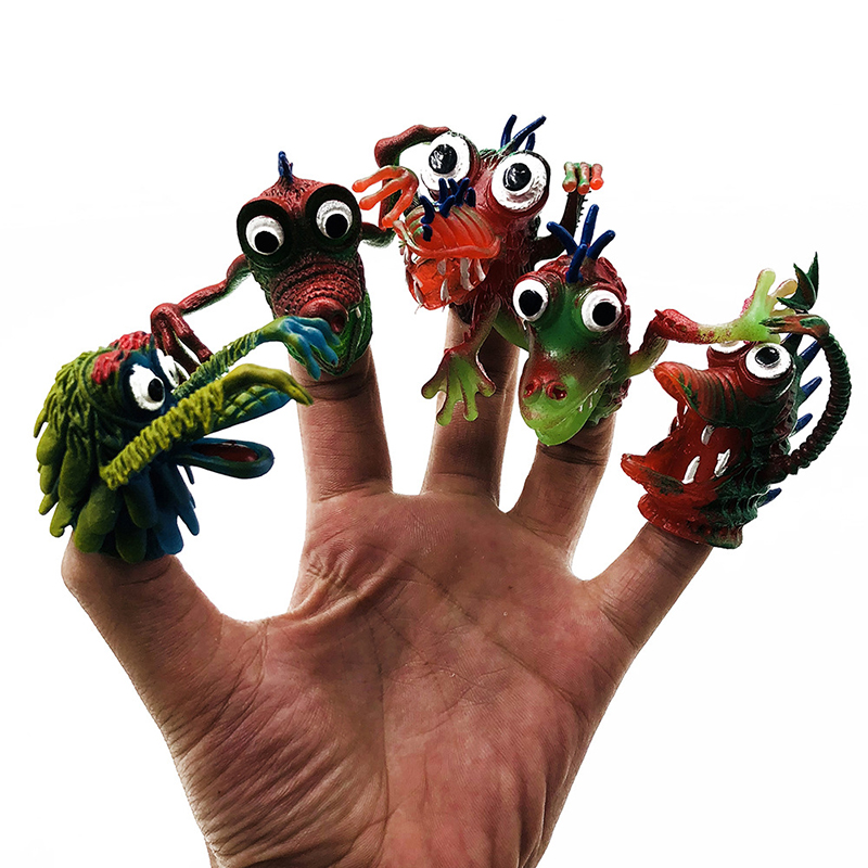 Finger Puppets Hand Puppet Toys Kids 5pcs Monster Doll Puppet Finger Funny Toy Birthday Gifts