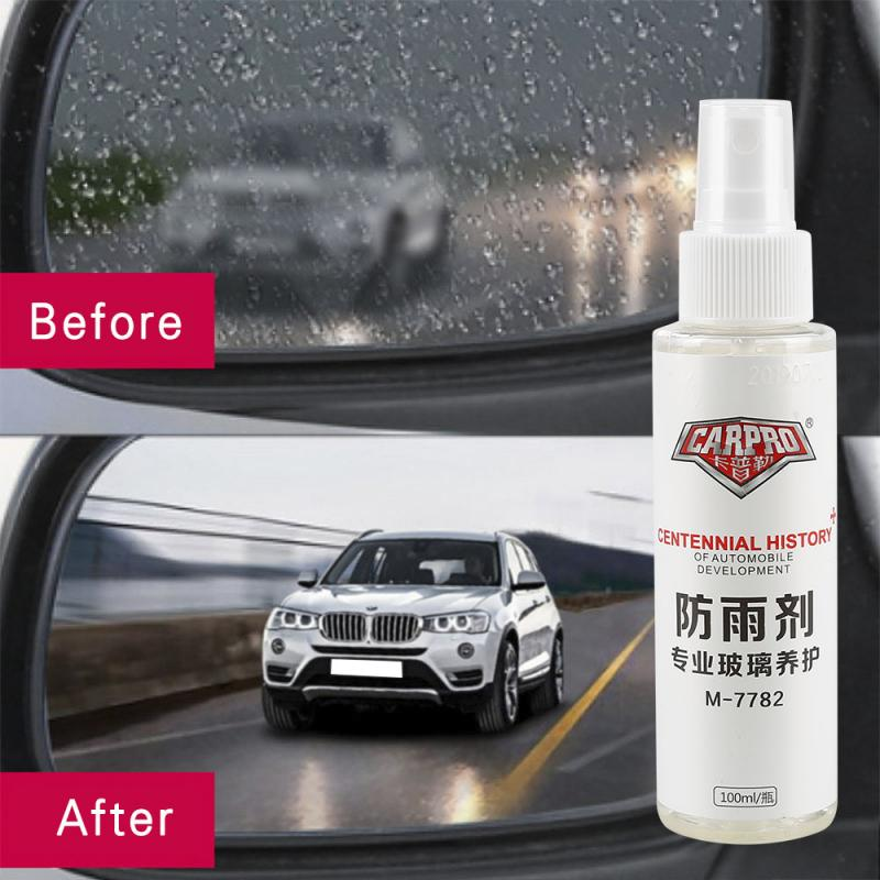 Car Front Windshield Anti-Rain Agent 100 ML Waterproof Rainproof Anit-fog Spray Car Rear-View Mirror Window Glass Coating  BC1