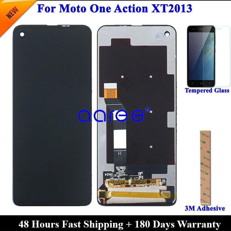 Протестированный Оригинальный ЖК-экран для Moto One Action, ЖК-дисплей для One Action XT2013, ЖК-экран, сенсорный дигитайзер в сборе