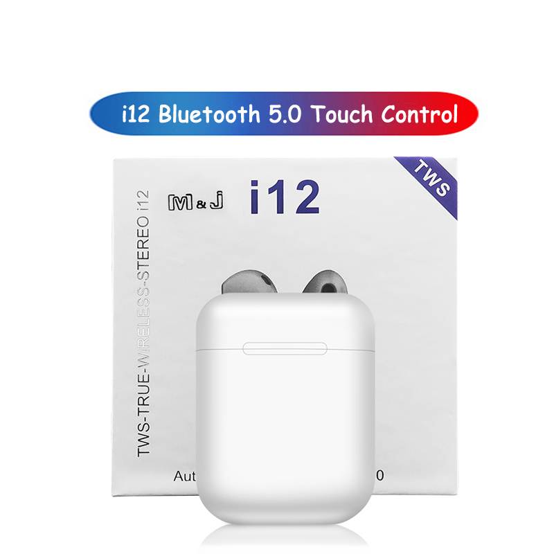 Original <font><b>i12</b></font> <font><b>TWS</b></font> Touch Control Mini <font><b>Wireless</b></font> <font><b>Earphone</b></font> <font><b>Bluetooth</b></font> <font><b>5.0</b></font> Headset for Android Iphone Sport Headset music Earbuds image