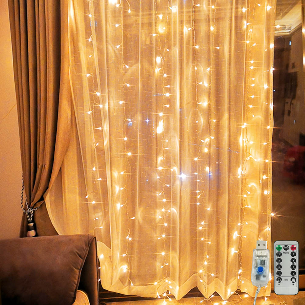 Garland Curtain 3Mx3M Fairy Lights Christmas Lights Indoor 3Mx1M Festoon LED Light Garland LED Christmas Decorations for Home 1