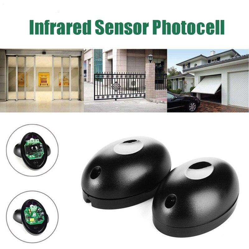 DC/AC 12 ~ 24V étanche IP55 cellule photoélectrique porte automatique capteur de sécurité alarme capteur de faisceau infrarouge cellule photoélectrique 20m détecter la gamme