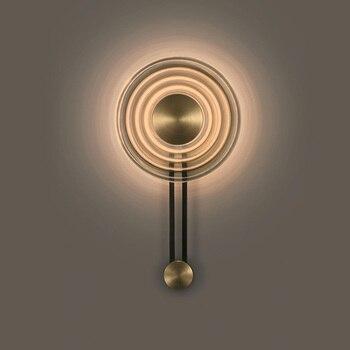 Lámpara de pared de diseño creativo LED dormitorio nórdico sala de estar decoración del hogar iluminación interior lámpara de pared de vidrio