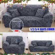 Nordic Style 1/2/3/4 Seater Slipcovers Sofa Cover and Cushion Cover Set Cotton Elastic Sofa Cover for Living Room Couch Sofa Set(China)