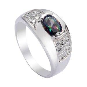 Женские свадебные кольца Eulonvan, S-3721 из стерлингового серебра 925 пробы с радужным кубическим цирконием, размеры 6, 7, 8, 9, 10