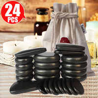 Tontin Hot stone Massage Body Basalt Stone set Beauty Salon SPA with Thick Canvas Heating bag healthcare back pain relieve