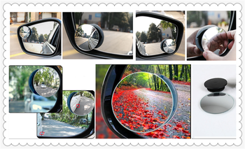 Car borderless small round blind spot mirror For BMW E46 E39 E38 E90 E60 E36 F30 F30 E34 F10 F20 E92 E38 E91 image
