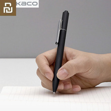 Youpin Kaco Stift Schwarz Blau Rot Tinte für NoteBook Kaco Edle Papier PU Leder Karte Slot Brieftasche Buch