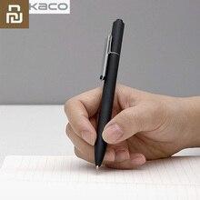 Youpin Kaco stylo noir bleu rouge encre pour ordinateur portable Kaco Noble papier PU cuir carte fente portefeuille livre