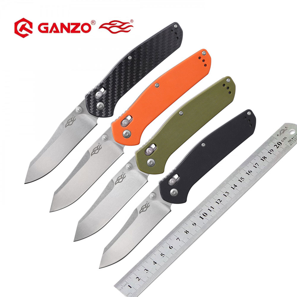 Ganzo G7562 F7562 Firebird  58-60HRC 440C blade Folding Knife Outdoor Survival Camping Tool Hunting Pocket Knife Tactical EDC
