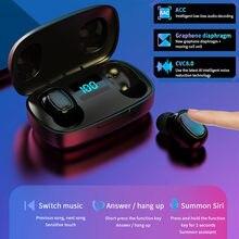 Наушники-вкладыши TWS Bluetooth наушники 5,0 беспроводной вкладыши HiFi наушники свяжитесь стерео Power цифровой дисплей для Huawei Iphone