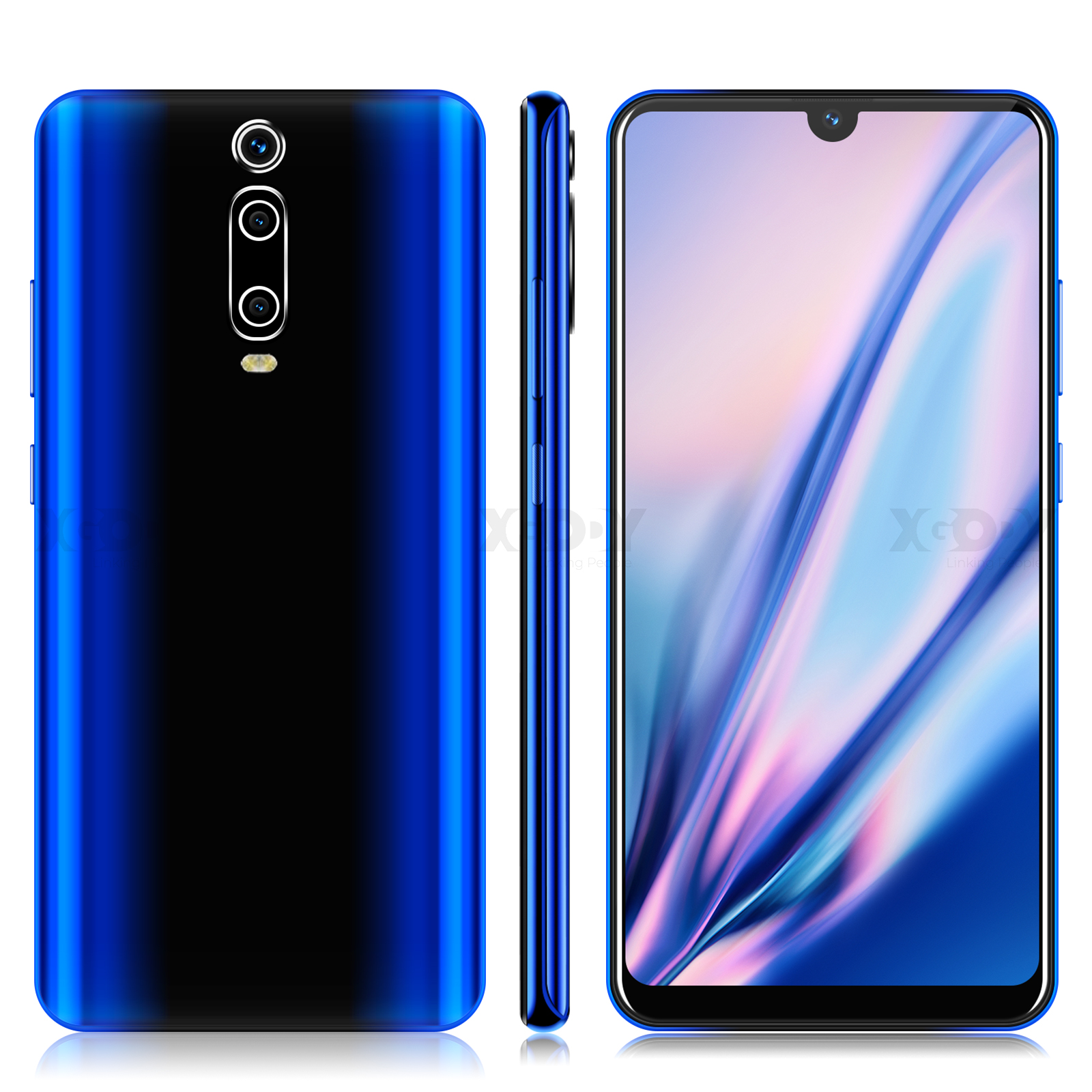 XGODY 6.26'' Waterdrop Mobile Phone 9T Android 9.0 1GB 4GB Full Screen <font><b>Smartphone</b></font> <font><b>MTK6580</b></font> <font><b>Quad</b></font> <font><b>Core</b></font> 2800mAh 5MP WiFi Cell Phones image