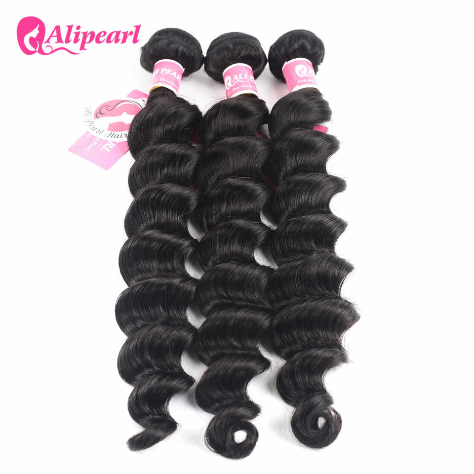 Ali Pearl Loose Deep Wave Bundles Brazilian Hair Weave 1 Bundle 100% Human Hair 3 and 4 Bundles 8-26 inches Remy Hair Extension