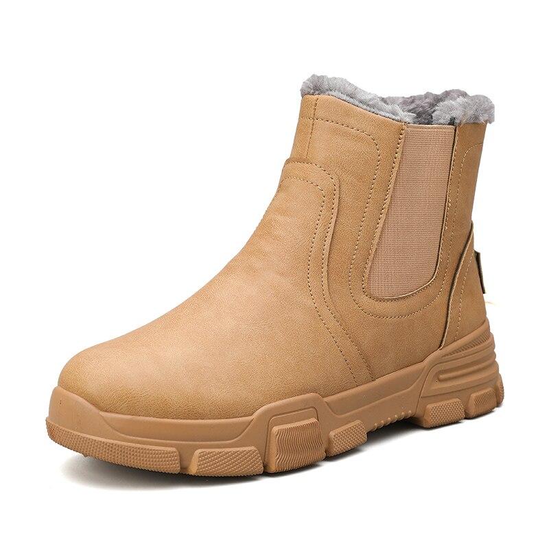 Chelsea Boots Men Winter Shoes Mens Leather Shoe Ankle Cowboy Waterproof Shose Man Motorcycle Casual Boot 2019 Men's Footwear