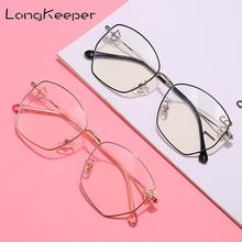 2020 Anti Blue Light Eyeglasses Women Butterfly Decorations Sunglasses Polygon Metal Clear Lens Computer Games Spectacle Frame